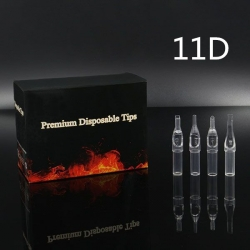 11DT - Short Disposable Tip Clear TL-315 - box of 50