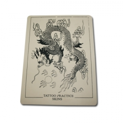 8 x 6 Inch Practice Skin for Tattoo Training-DRAGON OUTLINE