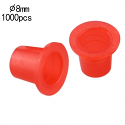 8mm Small Standard Red Ink Cups -BAG OF 1000