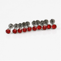 Tattoo Piercing Jewelery lip stud of 10pcs each bag