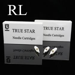 TRUE STAR White Hawk Cartridge Needles with Rubber Round Liner - RL Series