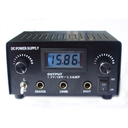 LED Double Jack Digital Power Supply -- black