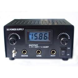 LED Double Jack Digital Power Supply -- black