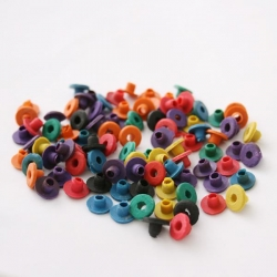 COLOR Rubber Nipples for Tattoo Machine A-Bars- Bag of 100