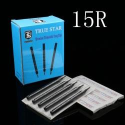 50pcs 108MM TRUE STAR Disposable Long Tips 15R