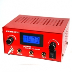 LED Double Jack Digital Power Supply -- red