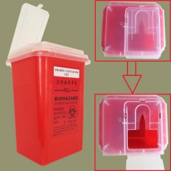 1 QT Sharps Container -- Red