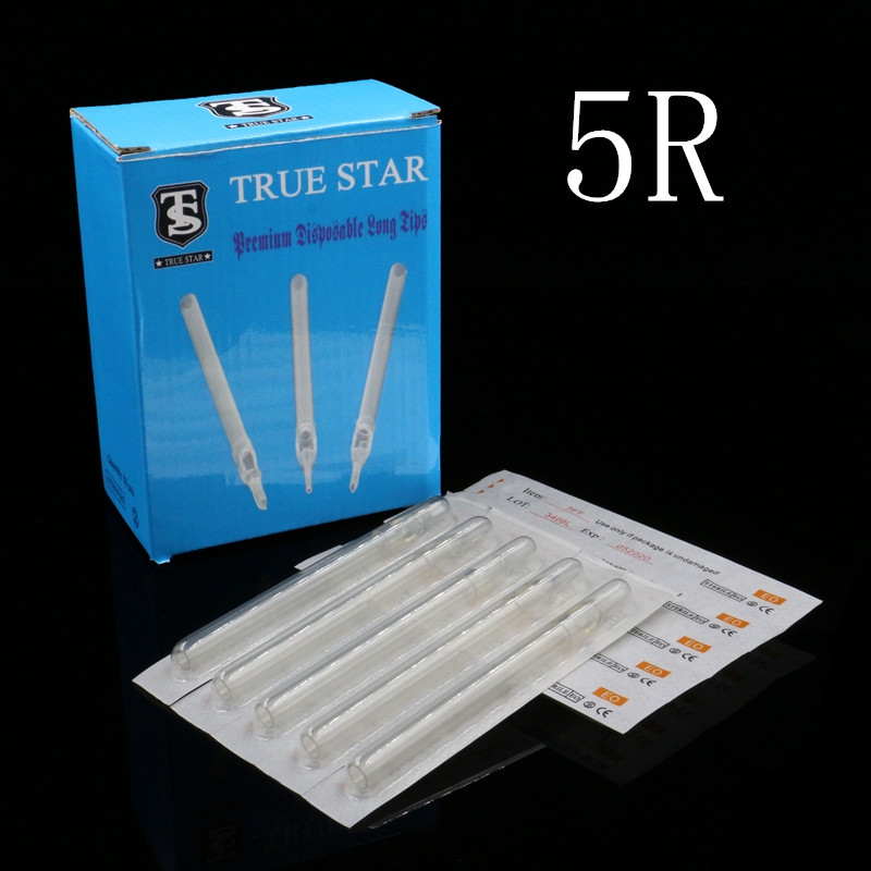 50pcs 108MM TRUE STAR Disposable Long Tips 5R