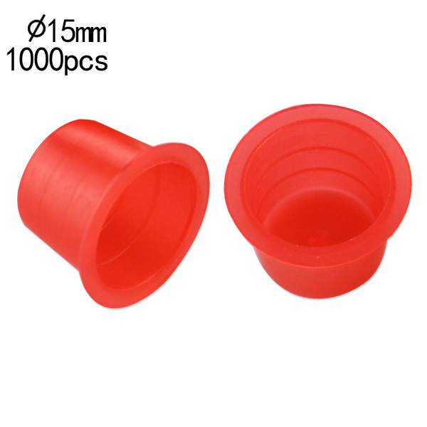 15mm Large Standard Red Ink Cups -BAG OF 1000