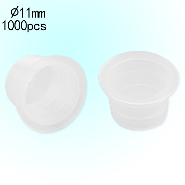 12mm Medium Standard Clear Ink Cups -BAG OF 1000