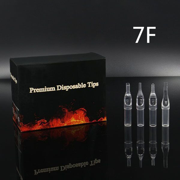 7FT - Short Disposable Tip Clear TL-315 - box of 50