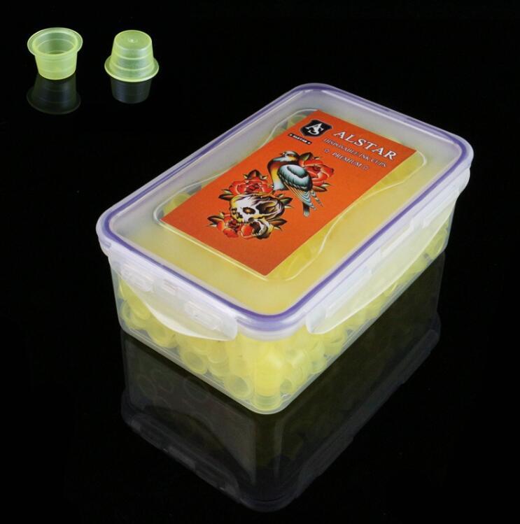 600pcs ALSTAR Ink Cups Yellow 14MM