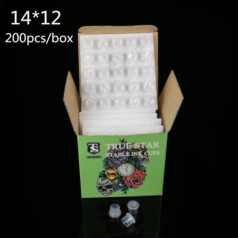TRUE STAR Dipsoable Stable Ink Cups 14MM 200pcs/box