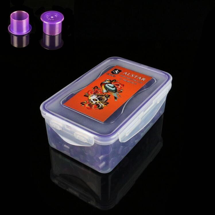 200pcs Self-standing ALSTAR Ink Cups Purple 20MM base