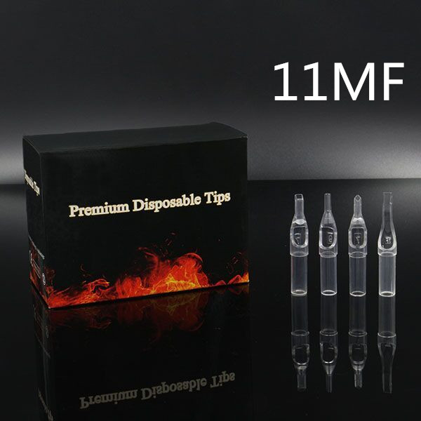 11MF - Short Disposable Tip Clear TL-315 - box of 50