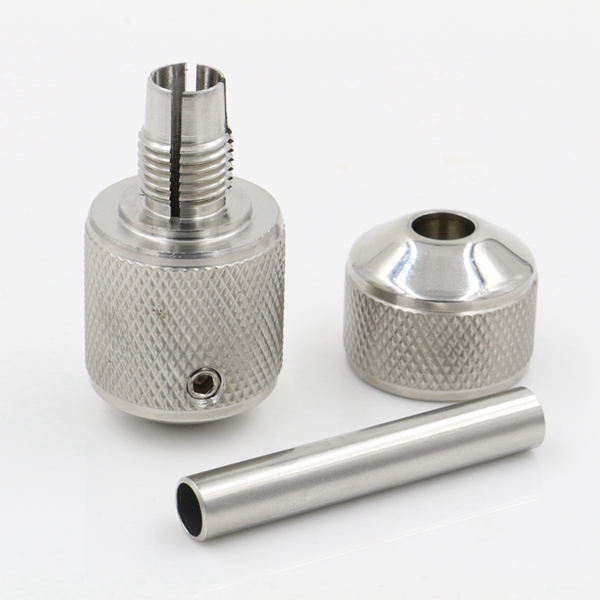 Stainless Steel Auto Lock Tattoo Grip 25mm