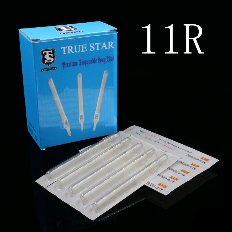 50pcs 108MM TRUE STAR Disposable Long Tips 11R