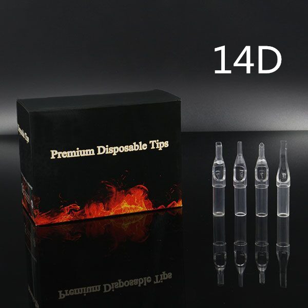 14DT - Short Disposable Tip Clear TL-315 - box of 50
