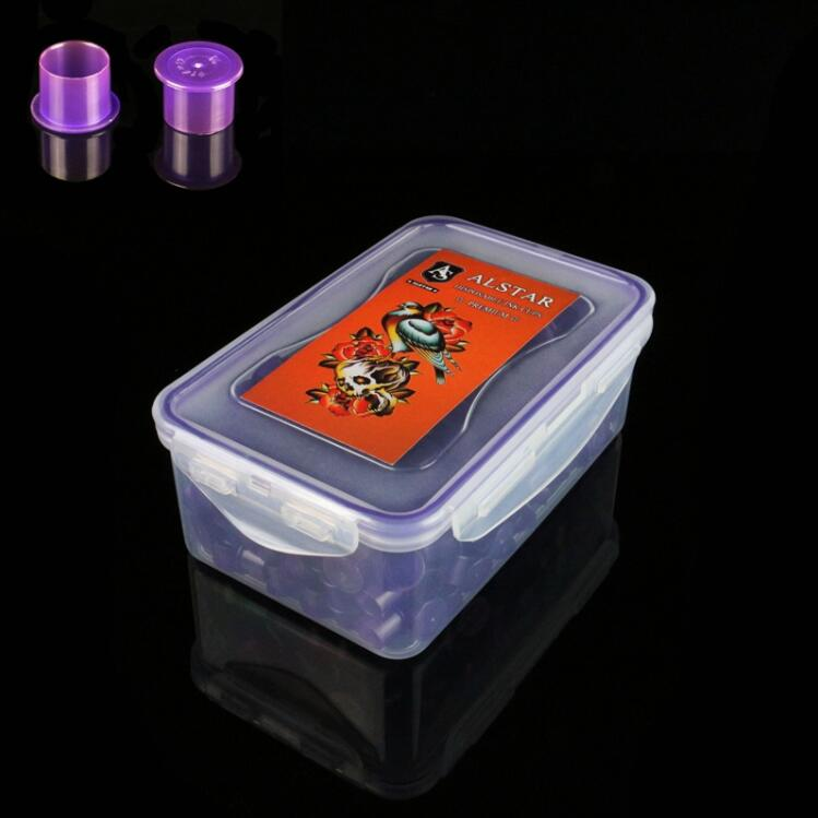 300pcs Self-standing ALSTAR Ink Cups Purple 17MM base