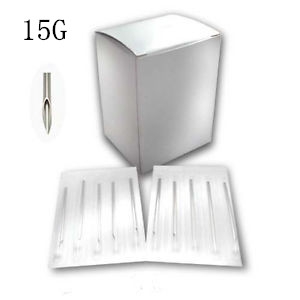 15G Piercing Needles - 100pack