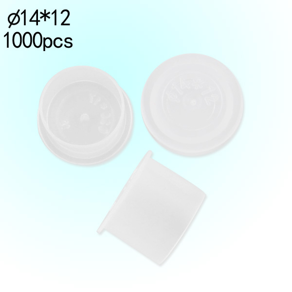 #14 Medium Clear Wide Base Ink Cups -BAG OF 1000