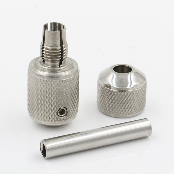 Stainless Steel Auto Lock Tattoo Grip 22mm