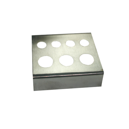 Stainless Steel Tattoo Ink Cap Holder - Holds three cup sizes