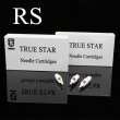 TRUE STAR White Hawk Cartridge Needles with Rubber Round Shader - RS Series