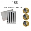 18RT-108mm Black Disposable Long Tip TL-303 - box of 50