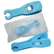 Disposable blue round opening piercing pliers box of 50pcs
