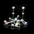 Tattoo Piercing Jewelery lip stud of 1box
