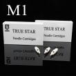 TRUE STAR White Hawk Cartridge Needles with Rubber Single Magnum - M1 Series
